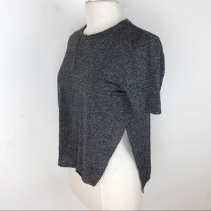 Wilfred Grey Short Sleeve Crop Tee Shirt Top XS